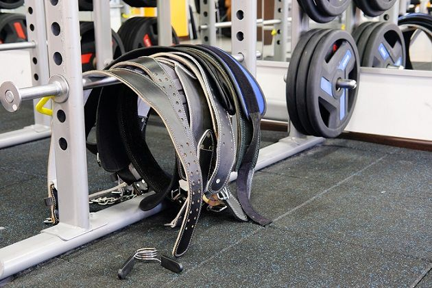 weight lifting belt lever